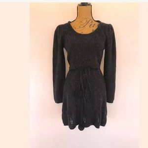 BCBG MAX AZRIA SOFT ALPACA POINTELLE SWEATER DRESS